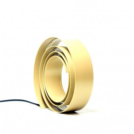 Table Lamp Amonita Medium Steel Gold Led Warm White Hrd Amonita M G