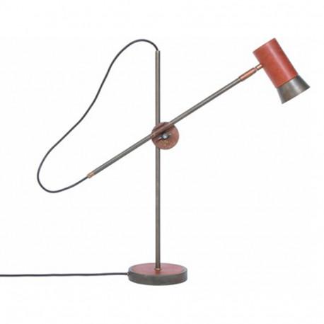 Lampada Da Tavolo Kusk Ferro Pelle 1 X Gu10 Senza Lampadina Kon 1418 12